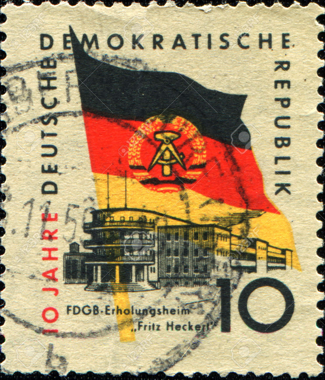 GDR - CIRCA 1956: A stamp printed inDDR (East Germany) honoring