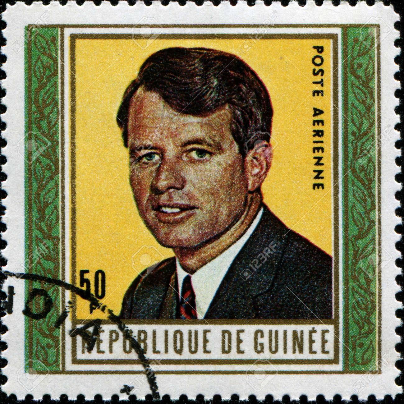 GUINEA - CIRCA 1969  A stamp printed in Guinea shows JRobert Kennedy, circa 1969 Stock Photo - 14200608