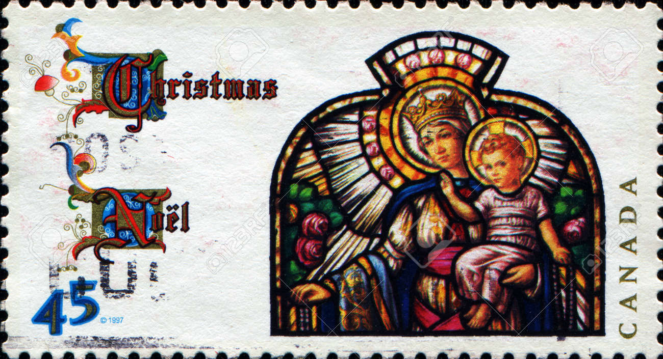 Canada Circa 1997 A Christmas Greeting Stamp Printed In Canada
