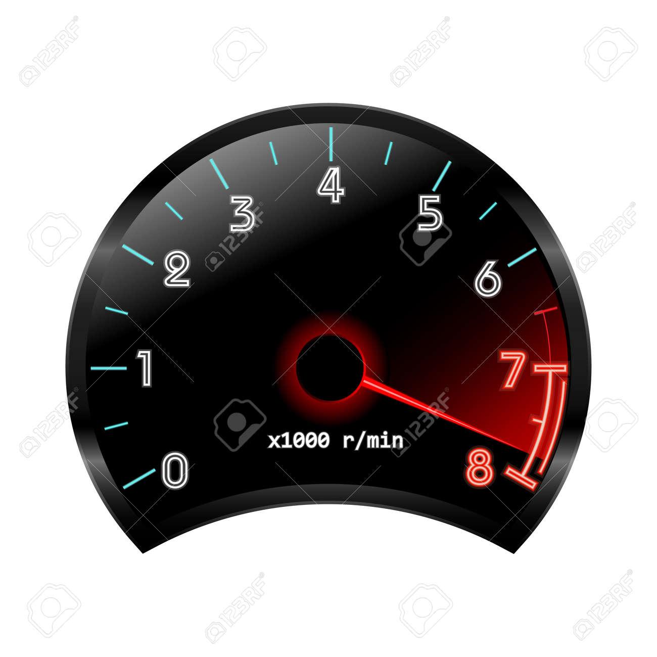 rpm gauge vector. tachometer revolution-counter , rpm gauge. vector illustration stock - 45247032 rpm gauge y