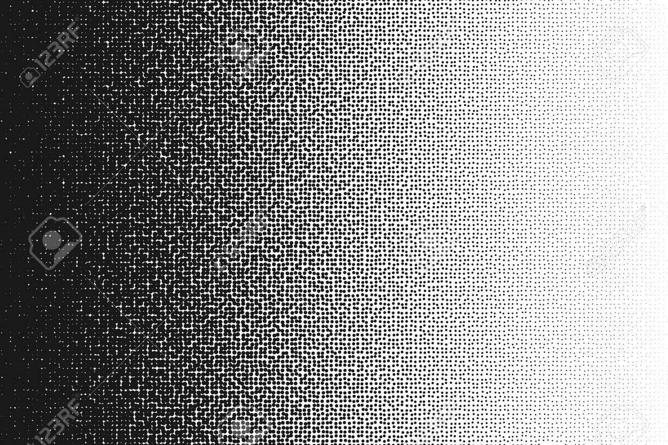 Halftone randomized moire pattern.Black dot pattern. Circle transition pattern background. - 59895604