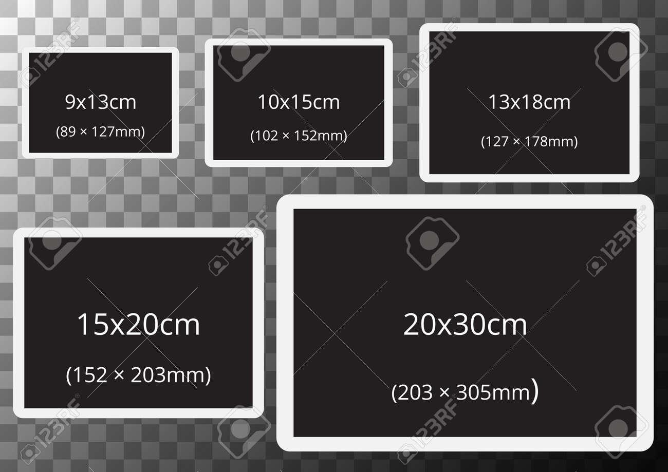 Préférence Cadres Avec Des Tailles De Photo Standard Sur Fond Transparent A2  EX65