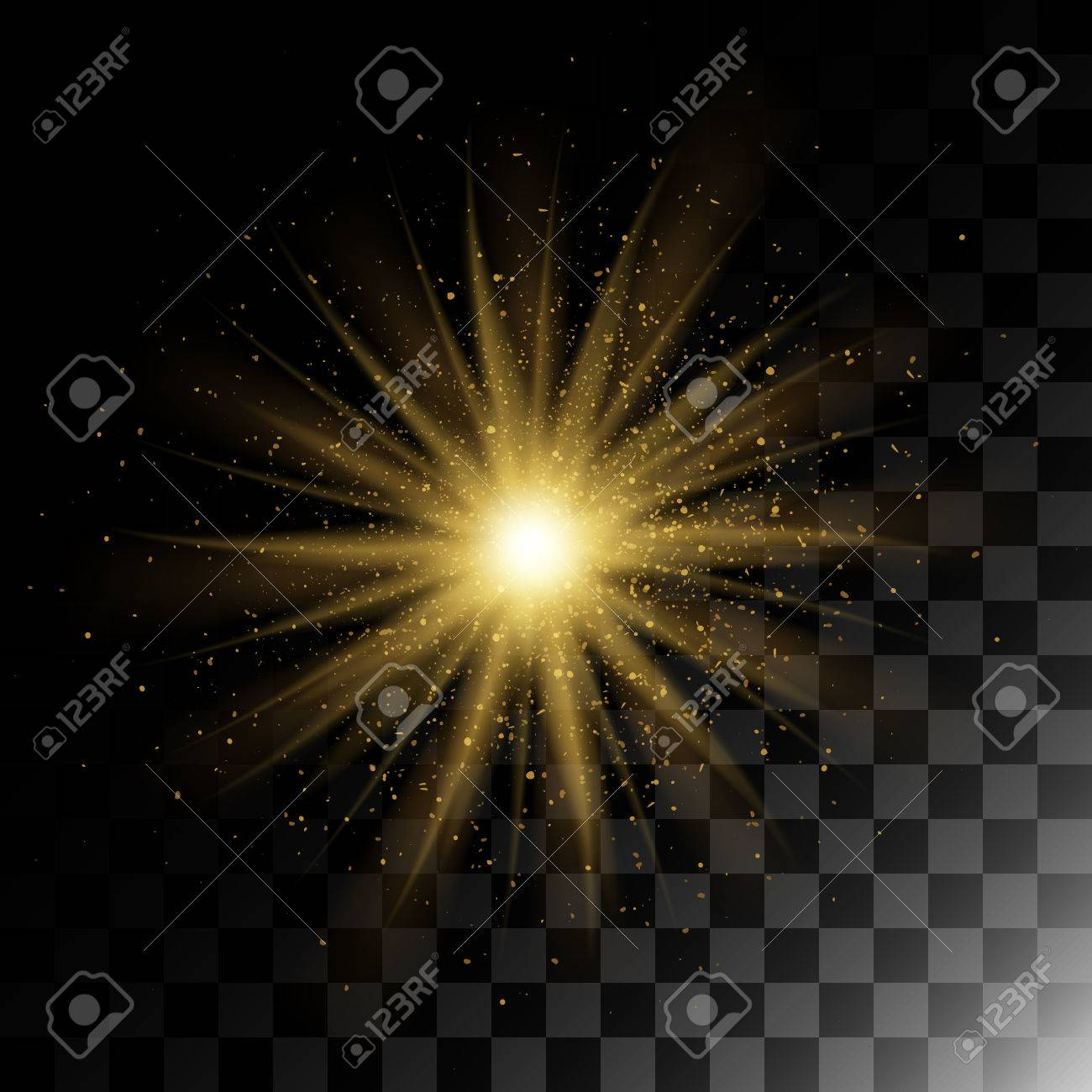 particle explosion golden glitter texture glow effect with