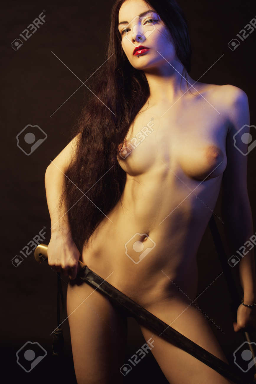 Nude Woman With Sword