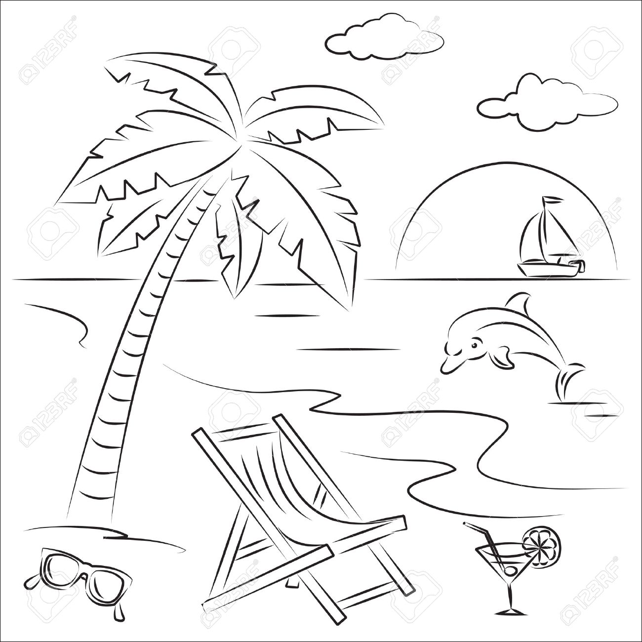 10623 Beach Chair Stock Illustrations Cliparts And Royalty Free