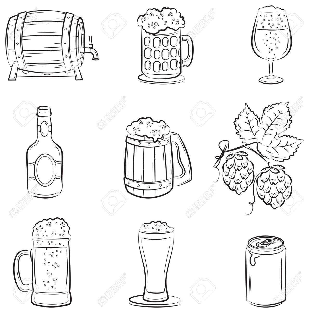 Beer Set Stock Vector - 9314854