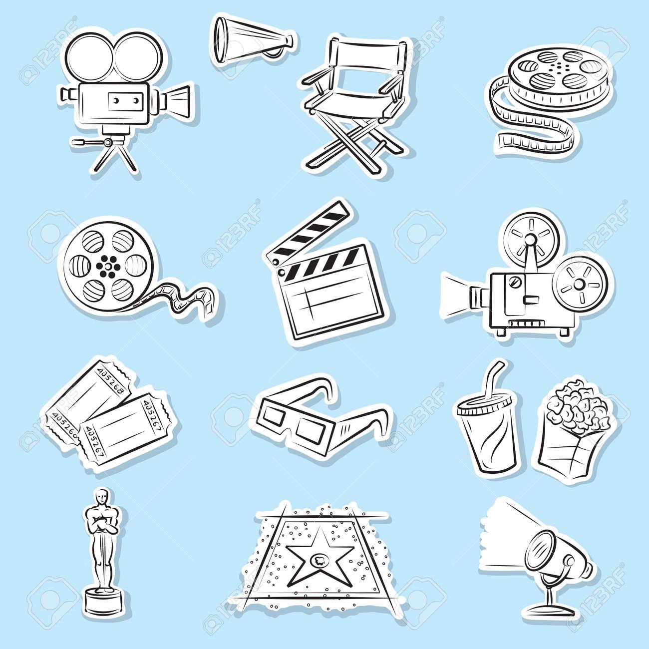 Cinema Icons Set Stock Vector - 9314856