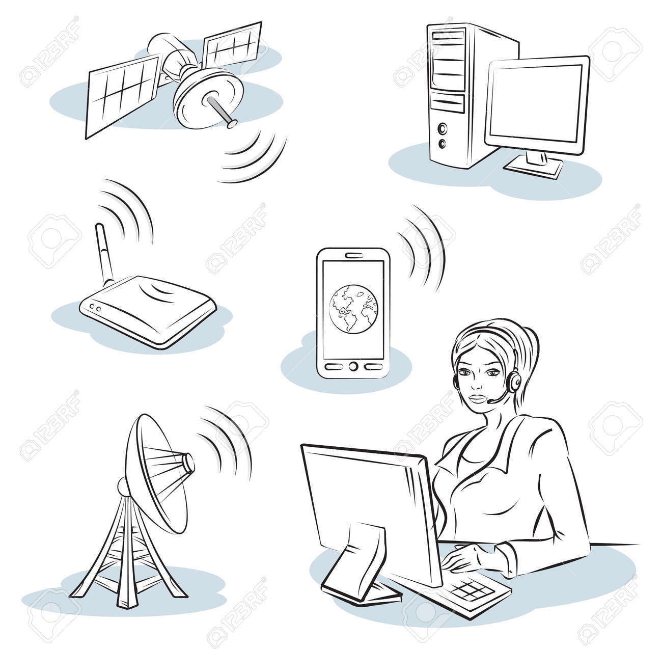 Wireless and communication Stock Vector - 13028052