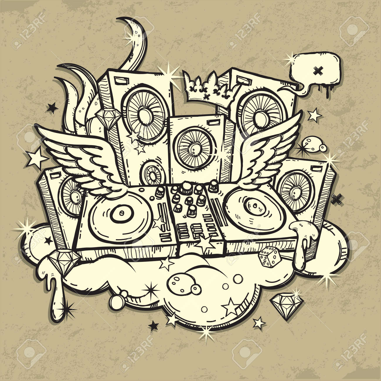 Dj S Spirit Royalty Free Cliparts Vectors And Stock Illustration