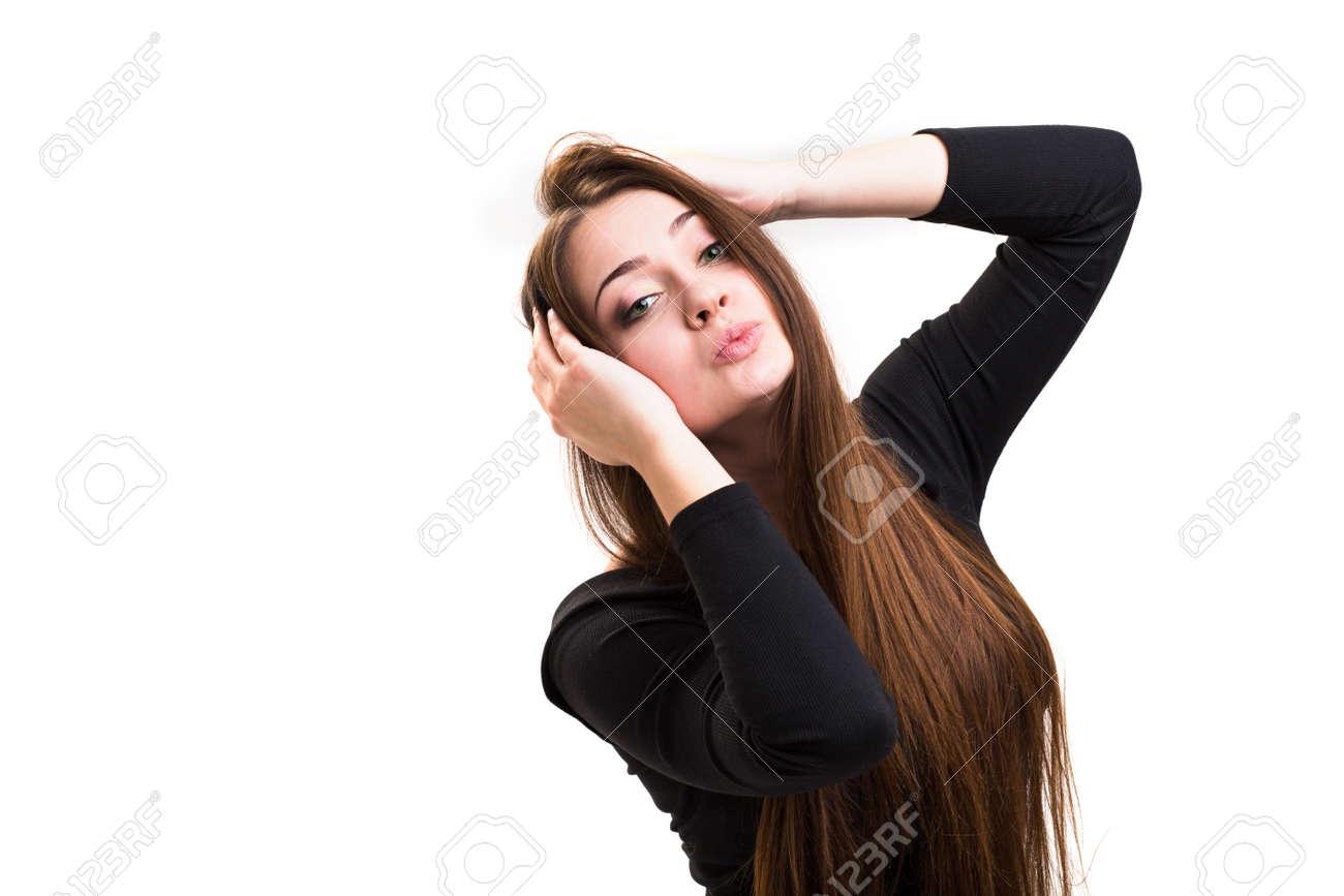 Haare grüne augen mädchen braune Blonde Haare