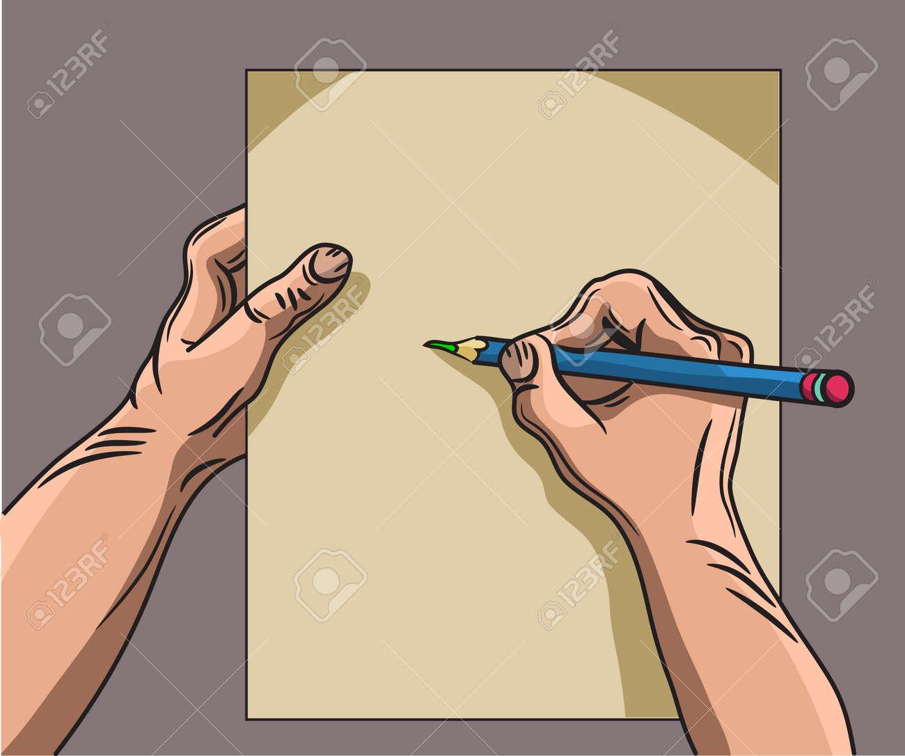hand writes Stock Vector - 19823220