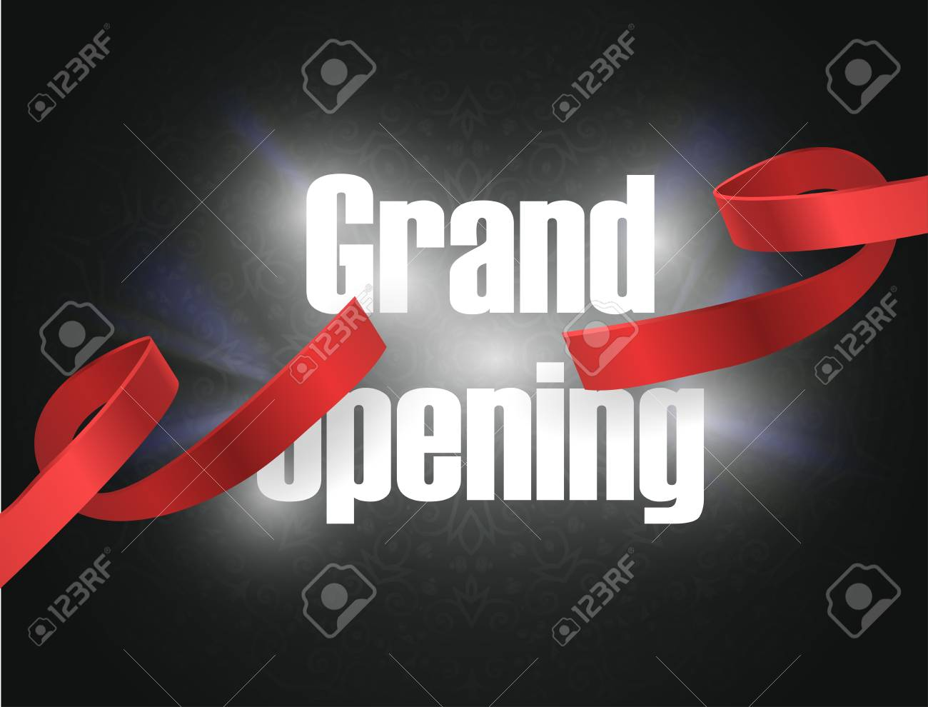 Grand Opening , Background With Lettering Sign. Template Banner ...