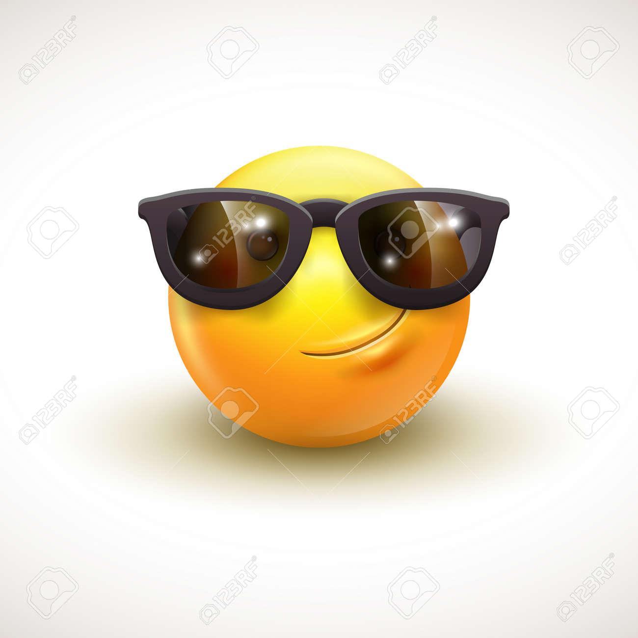 Con Lindo Gafas De Emoticon Sol NegrasEmojiSmiley Sonriente HEI92D