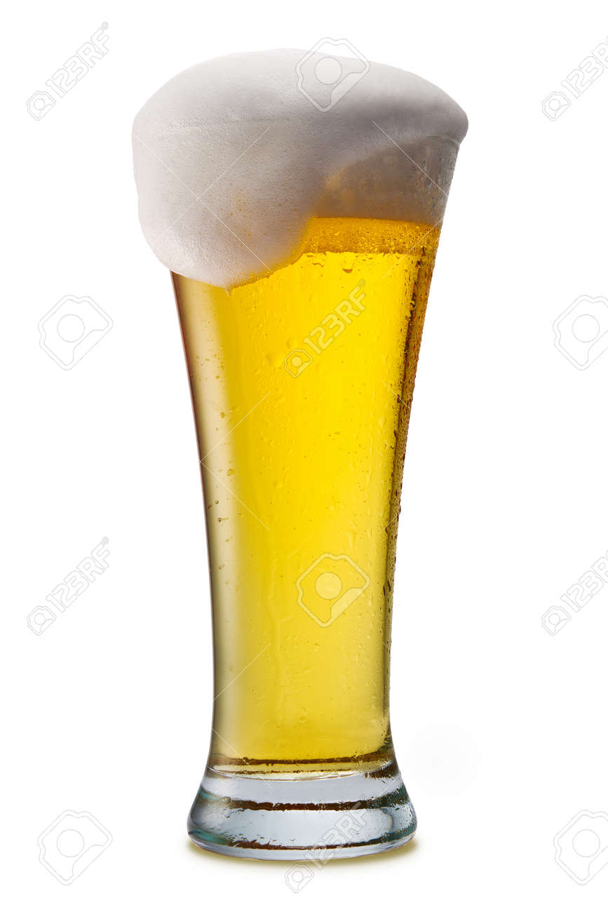 Beer into glass isolated on white Stock Photo - 10692901
