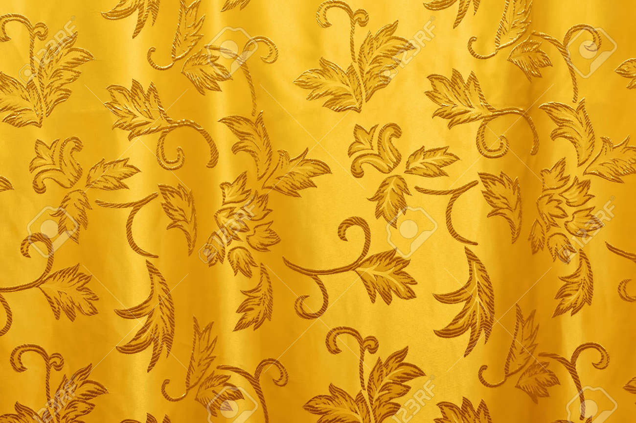 Curtains texture gold - Beautiful Curtain Texture In Horizontal Composition Stock Photo 6744550