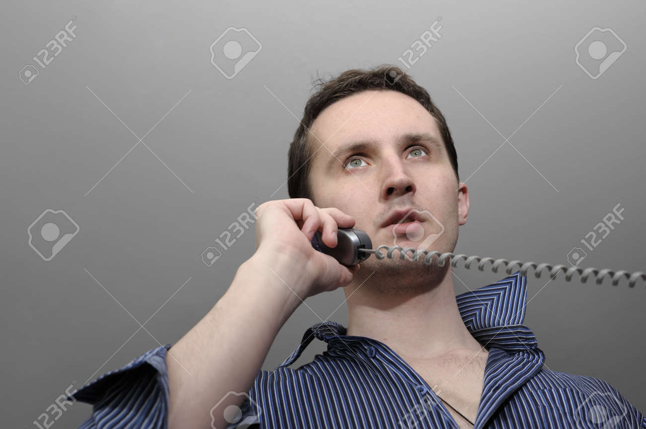 Young man talking by phone Stock Photo - 7066932