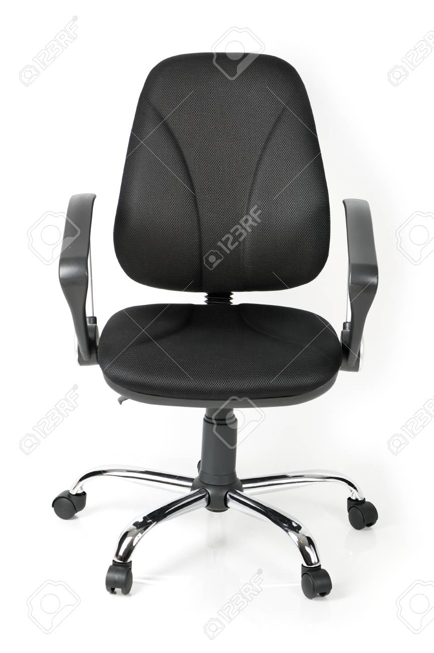 Comfortable office chair isolated on white background