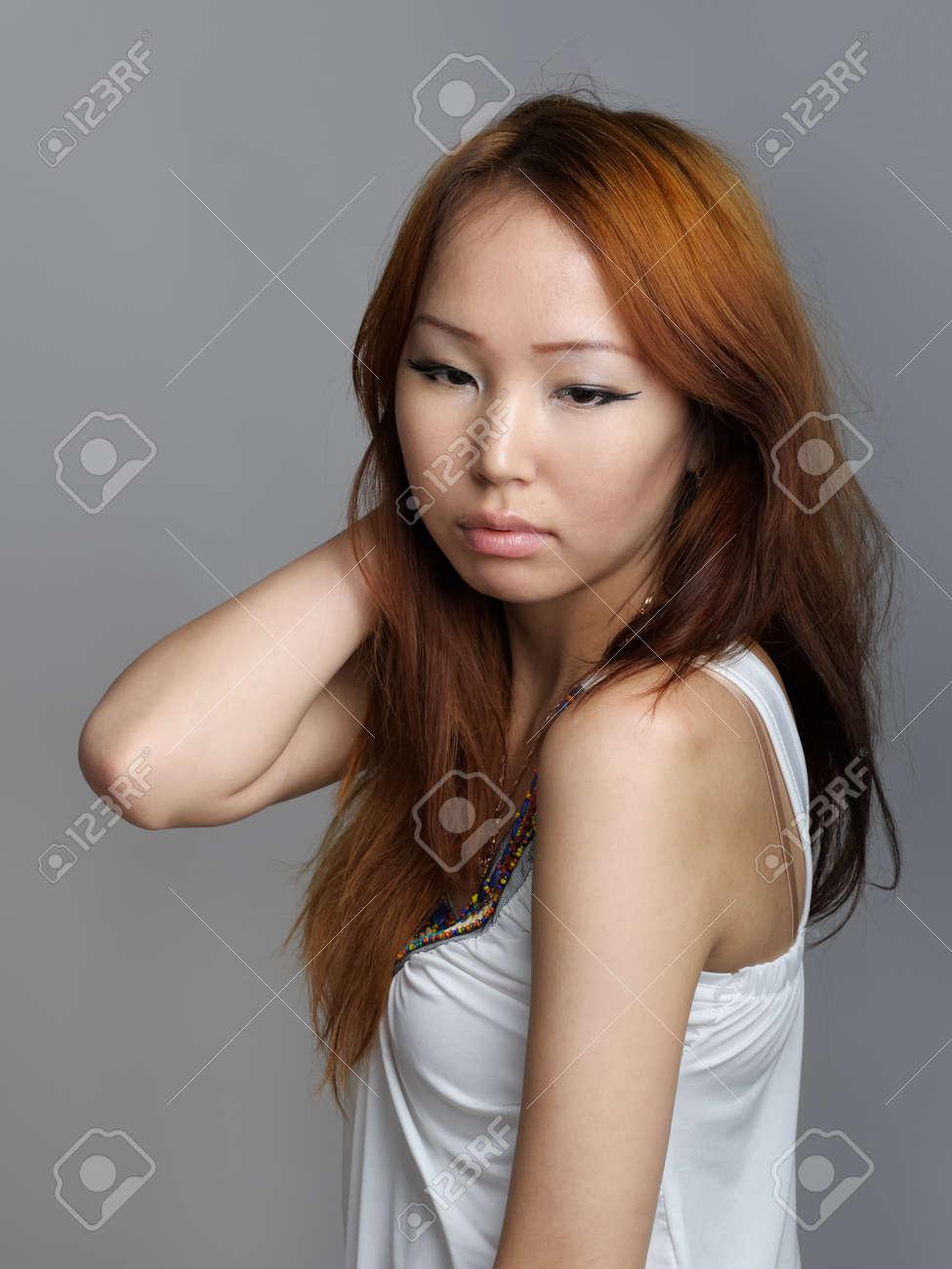 Asian woman in white dress Stock Photo - 14446624