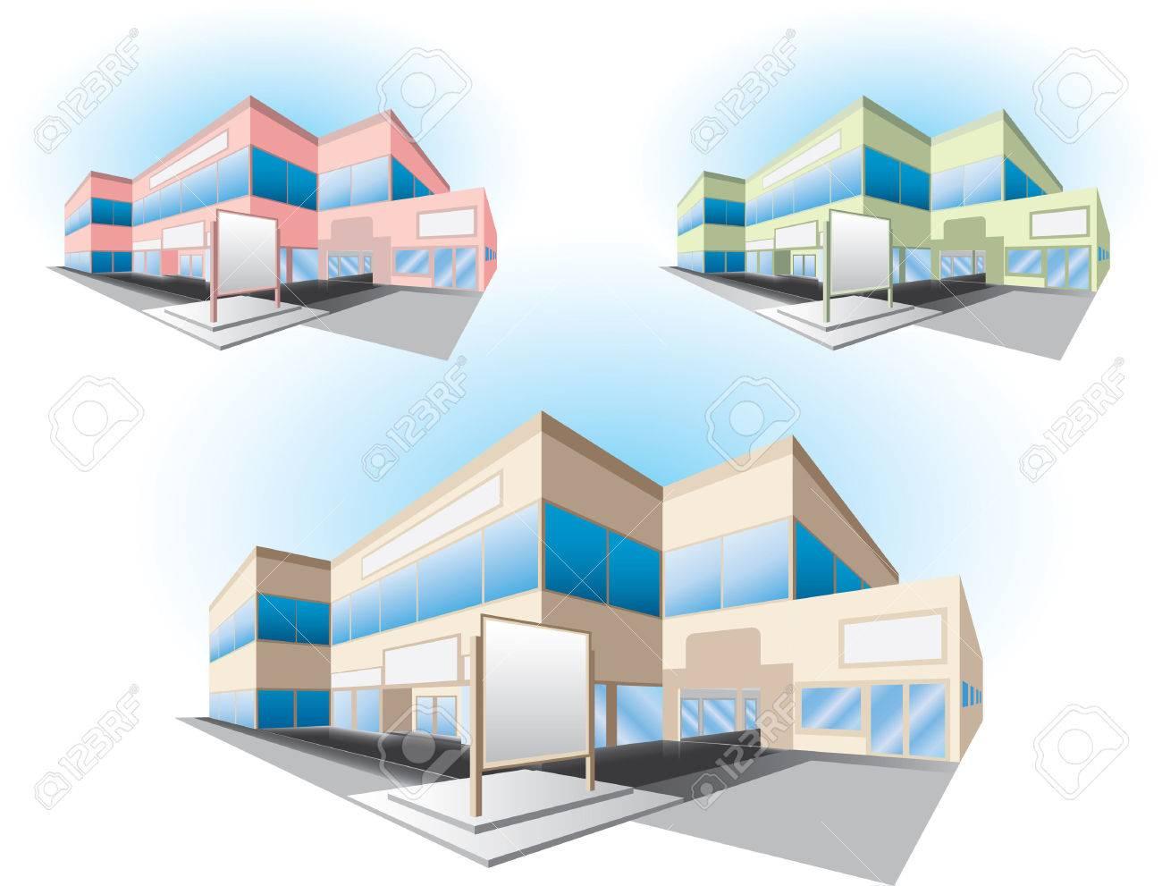 shopping center building Stock Vector - 7552713