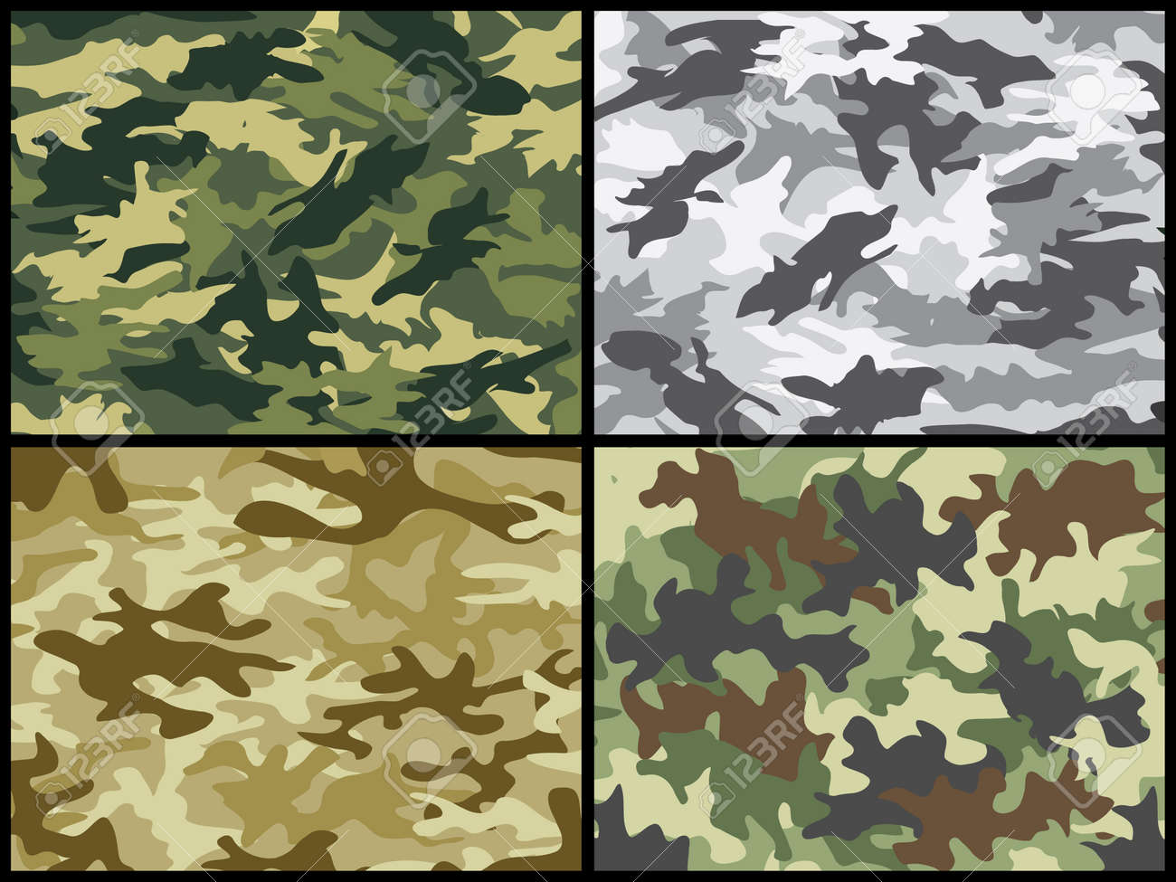 Military camouflage collection Stock Vector - 7552677