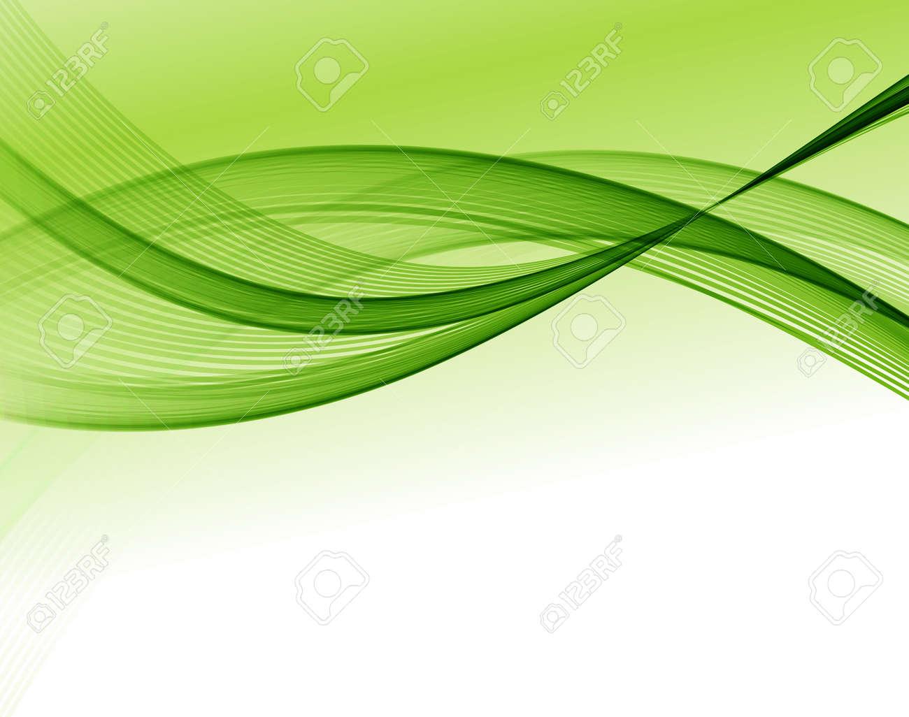 Abstract vector wave background, green waved lines for design brochure, website - 54424763