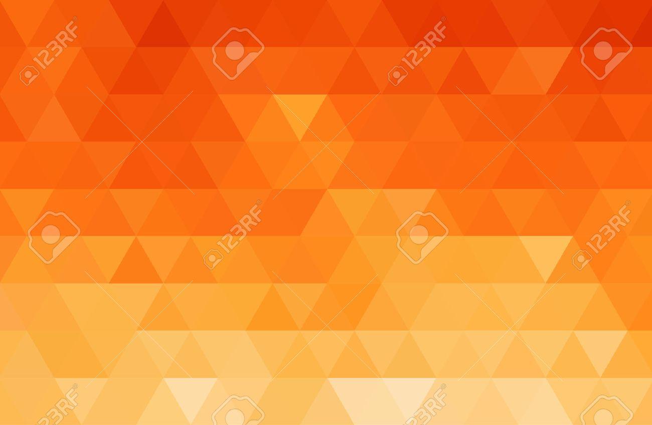 Vector Abstract orange color mosaic background for design brochure, website, flyer - 54508661
