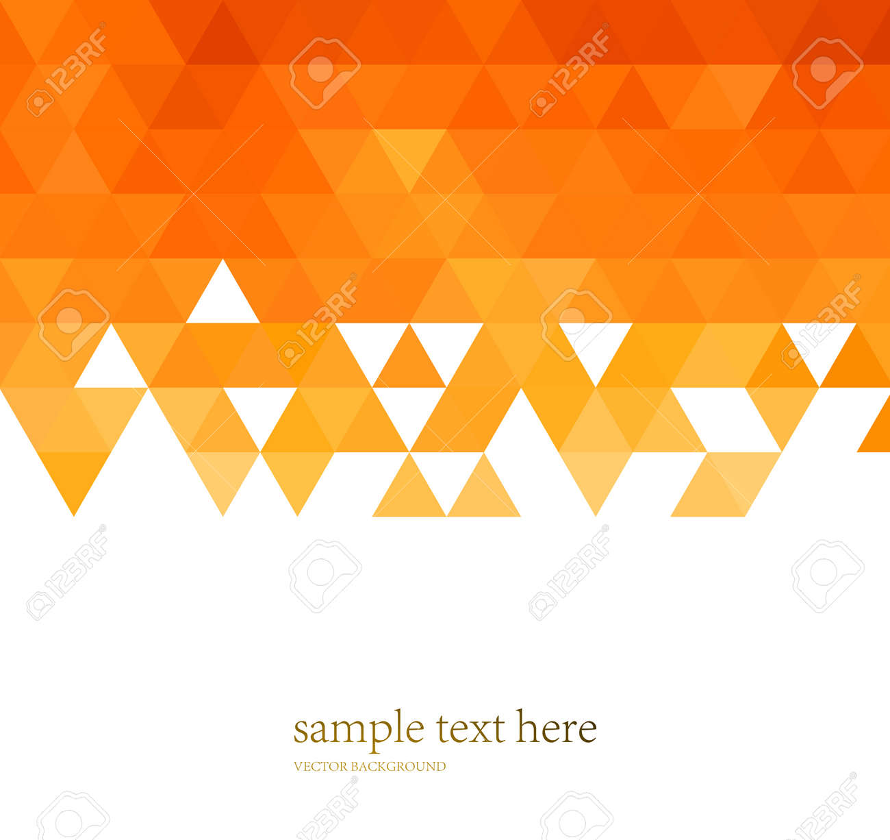 vector abstract orange color mosaic background for design brochure