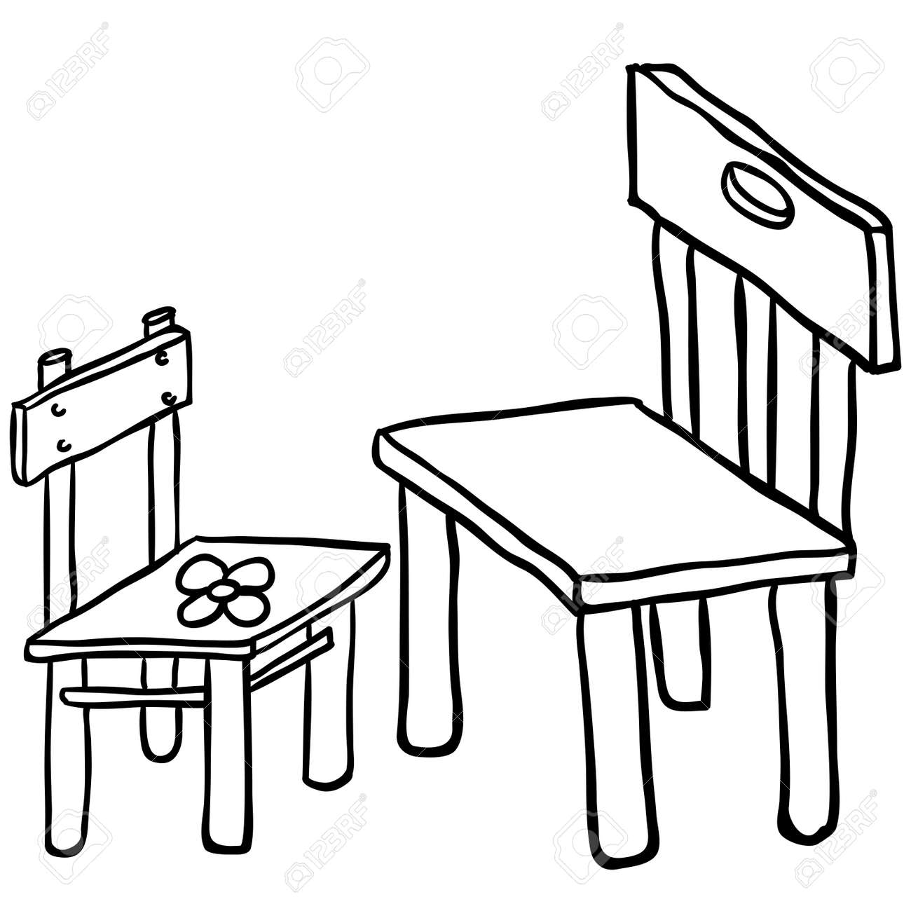 Peachy Simple Black And White Chairs Cartoon Pdpeps Interior Chair Design Pdpepsorg