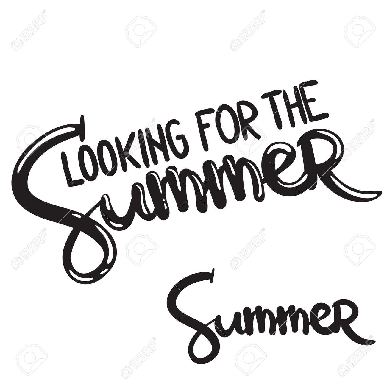 Mão Escrita Letras Frase Olhando Para O Verão