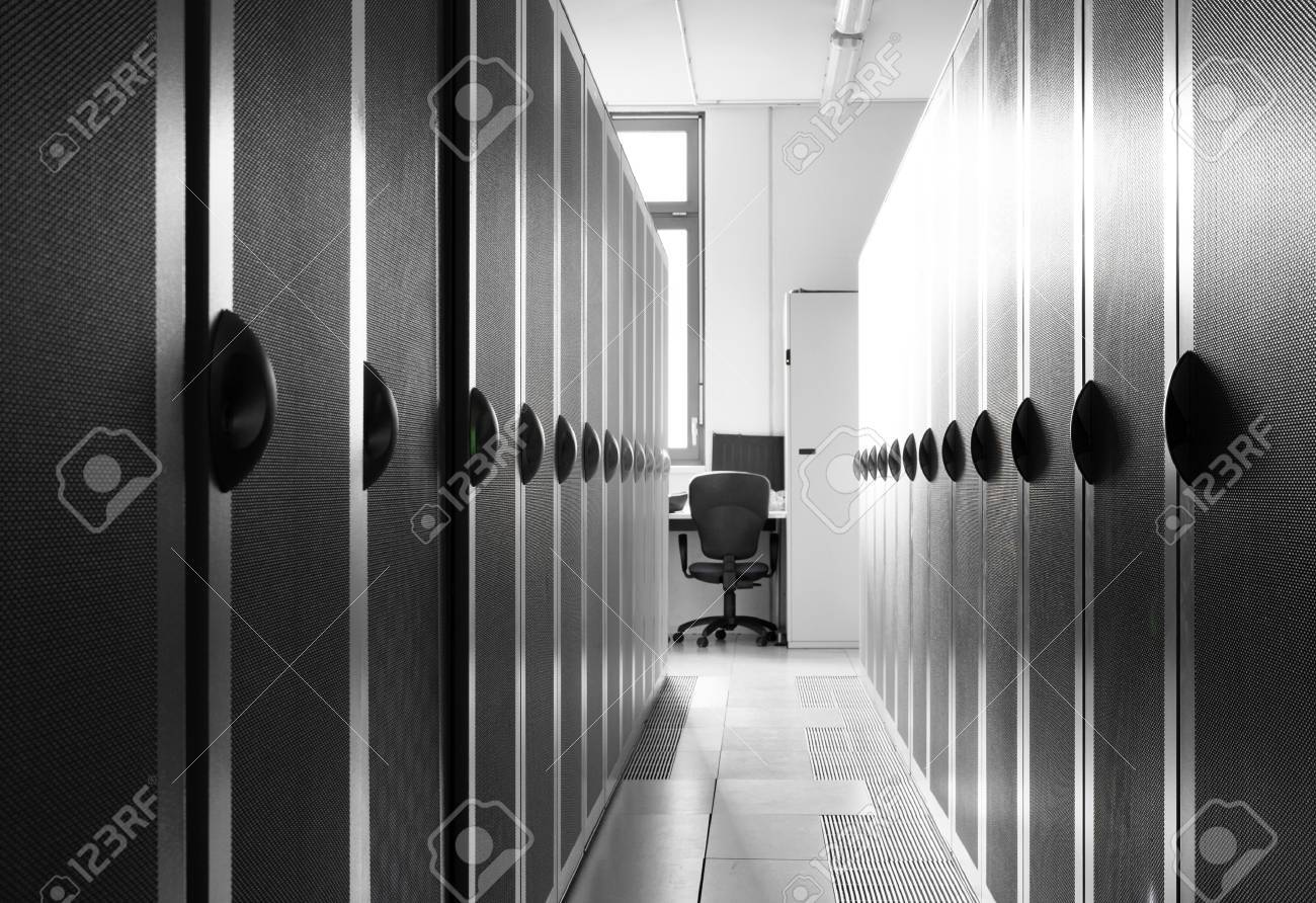 Picture of dark server room at the day light. Stock Photo - 11808956