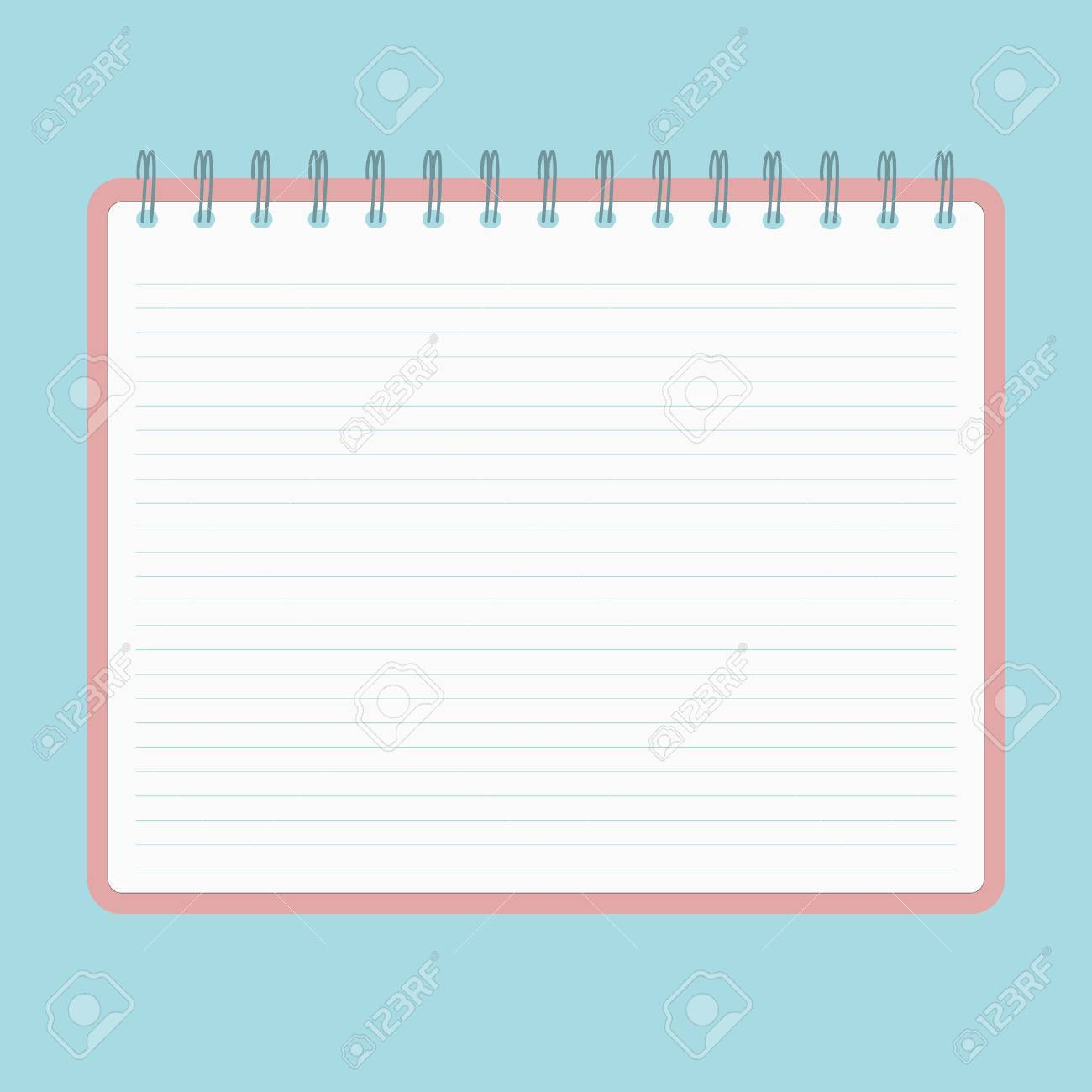 spiral notebook with lined sheets royalty free cliparts, vectors