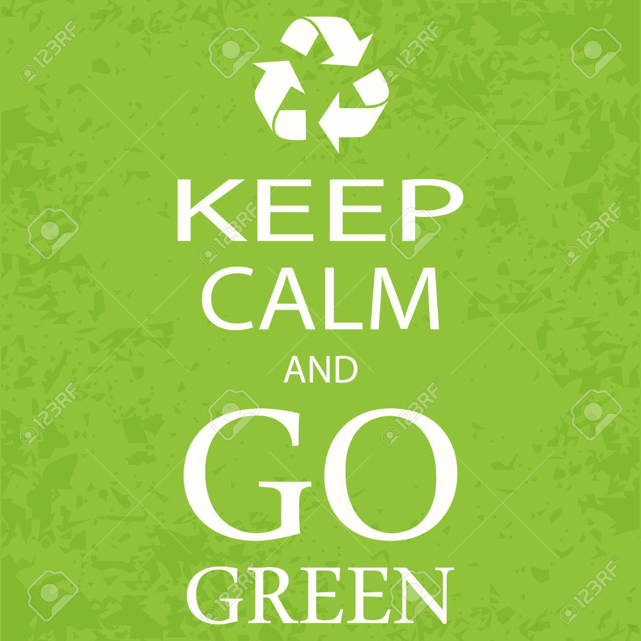 Banner Keep Calm And Go Green Royalty Free Cliparts Vectors And Stock Illustration Image 45622539