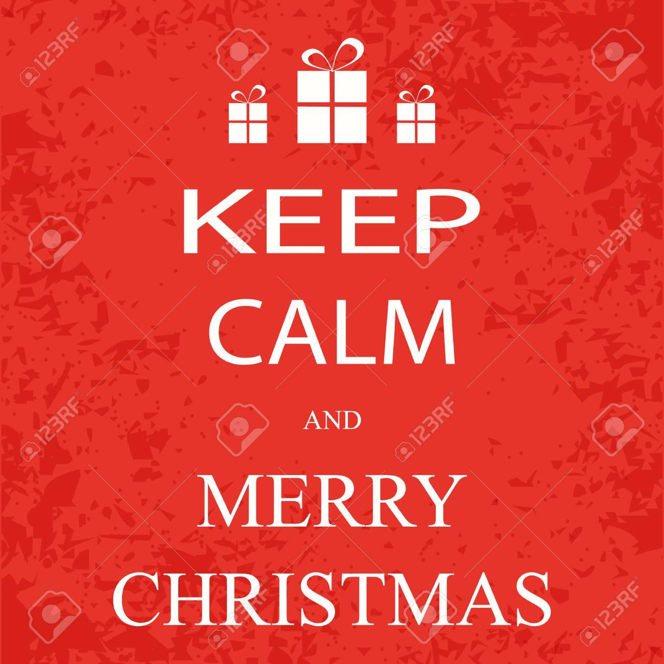 Keep Calm Christmas.Banner Poster Keep Calm And Merry Christmas