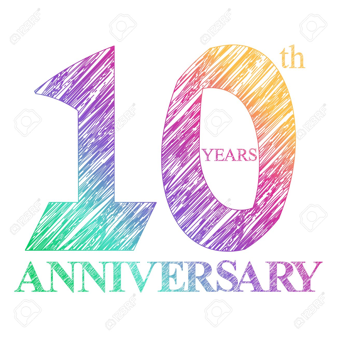 A Painted The Logo Of The 10th Anniversary With A Circle Number pertaining to Free Clip Art 10th Anniversary