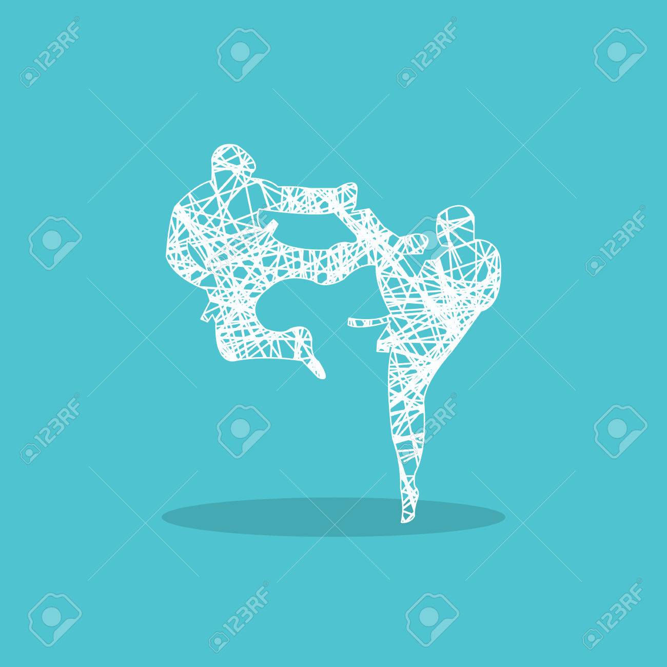Karate Icon For Web Design Royalty Free Cliparts Vectors And