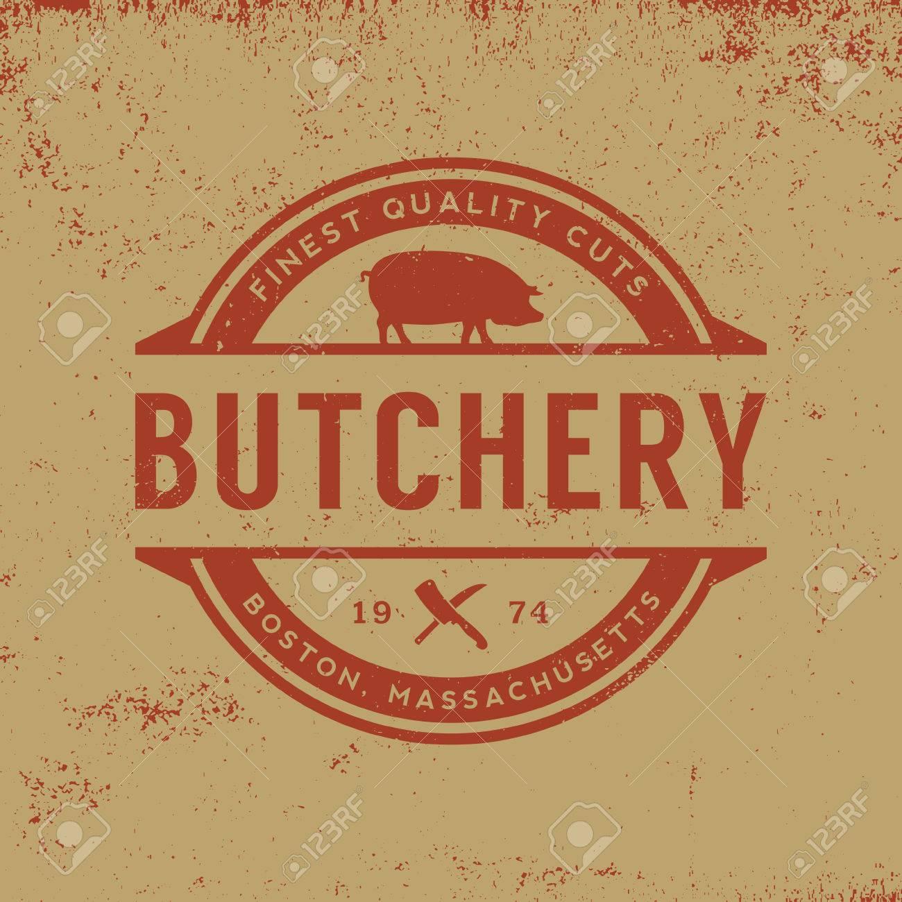 butchery label on grunge background - 42864170