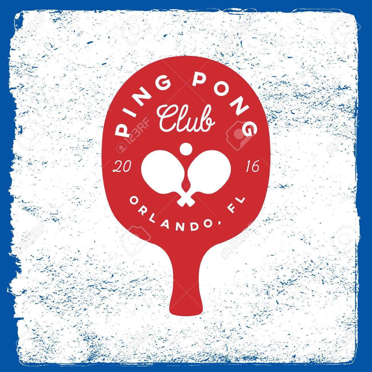 Emblema Del Ping-pong. Plantilla De Logotipo De Tenis De Mesa En El ...