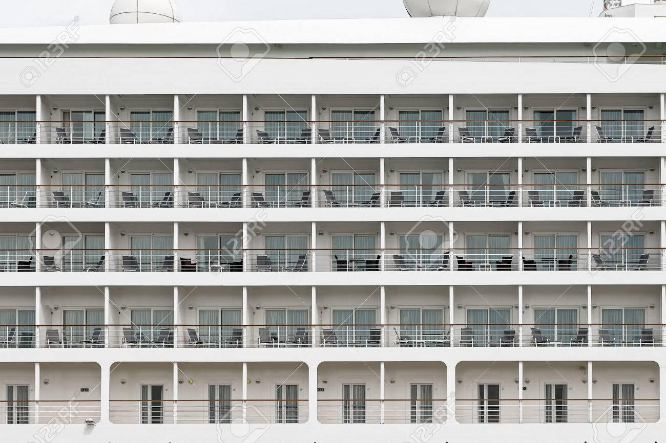 Terrific Rows Of Cabin Balconies With Chairs And Tables On A Modern Cruise Frankydiablos Diy Chair Ideas Frankydiabloscom