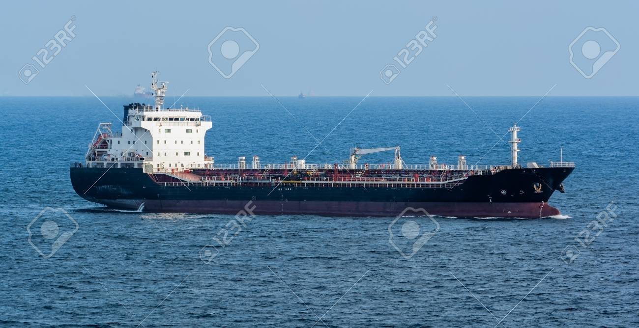 Asphalt/Bitumen tanker passing through the Straits of Singapore