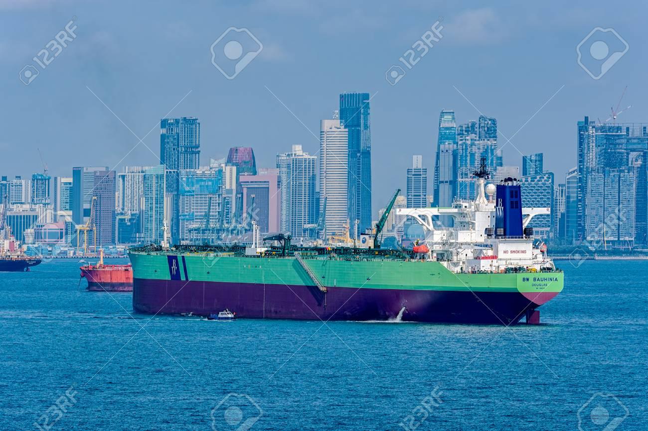 SINGAPORE - Feb 06, 2017: Pilot boat delivers a harbor pilot