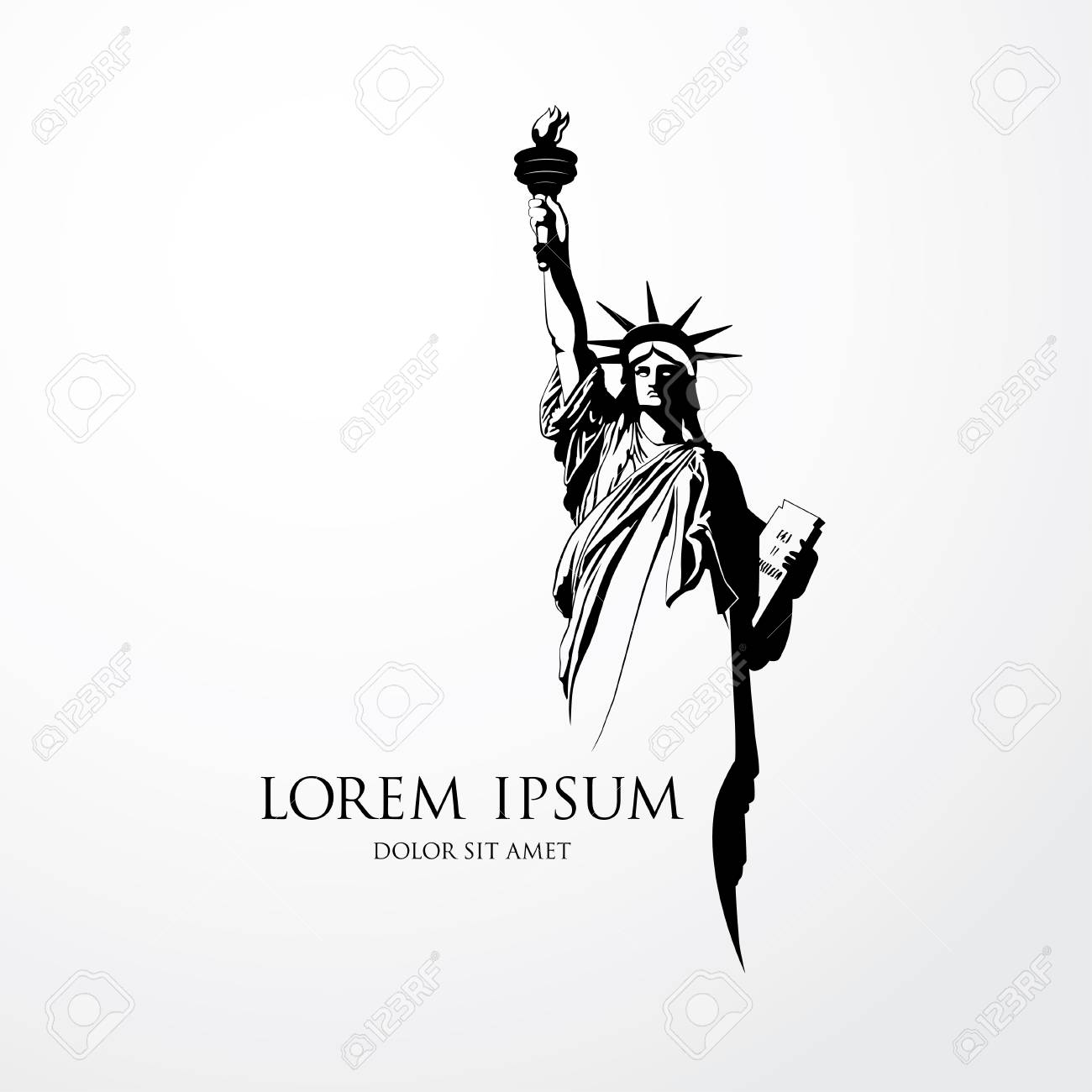 the statue of liberty vector illustration royalty free cliparts rh 123rf com statue of liberty vector free download statue of liberty vector silhouette
