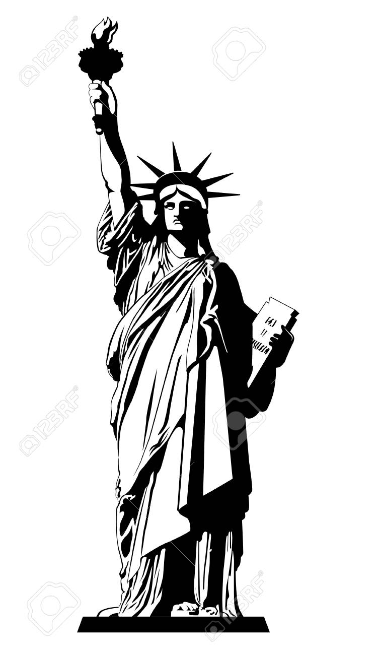 the statue of liberty vector illustration royalty free cliparts rh 123rf com statue of liberty vector art statue of liberty vector art