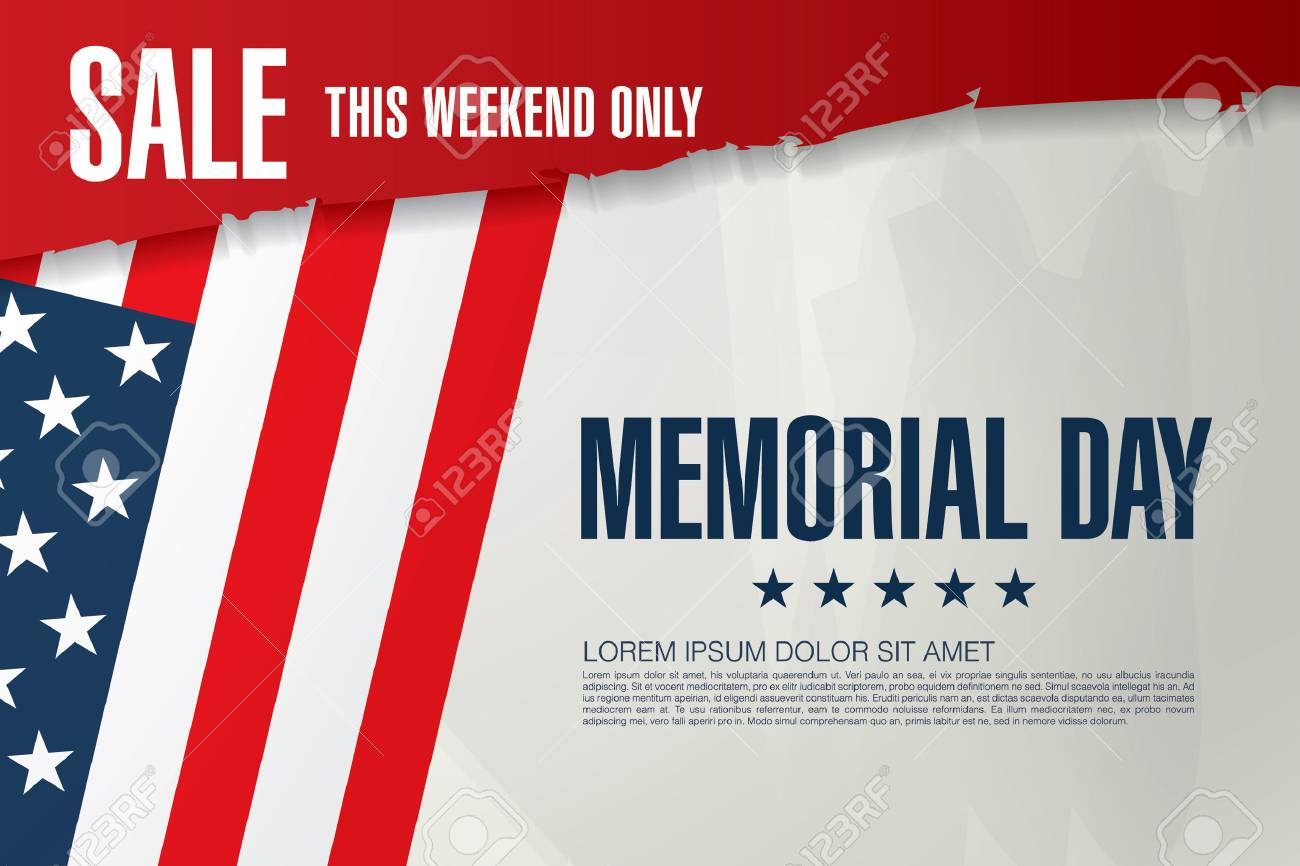memorial day sale banner template design royalty free cliparts