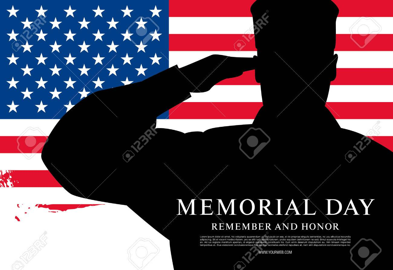 Memorial day. Remember and honor. Vector illustration - 56323656
