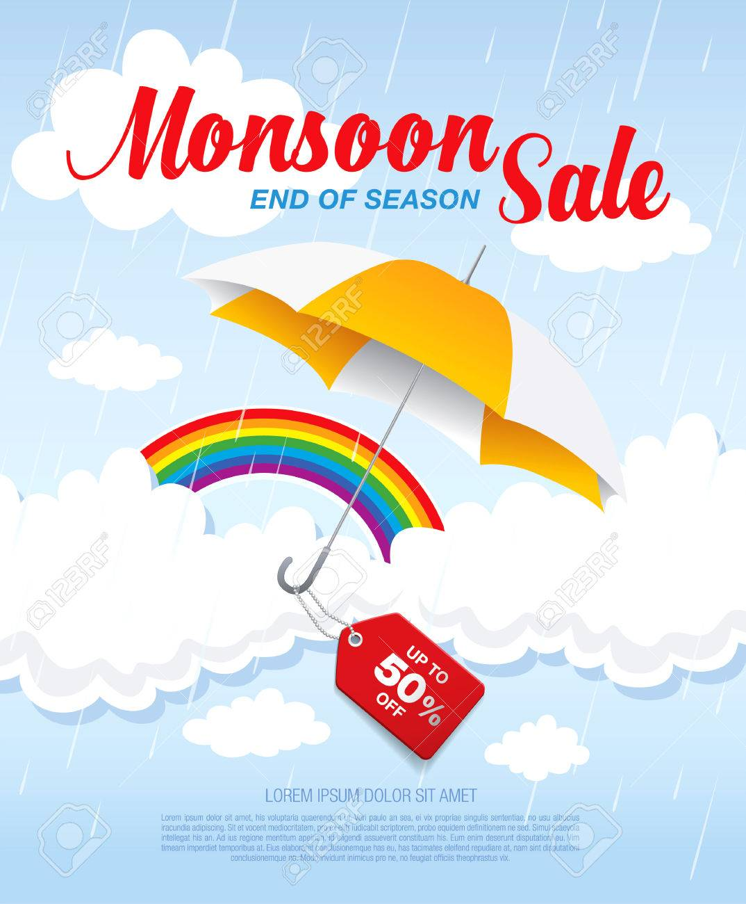 monsoon banner template design royalty cliparts vectors monsoon banner template design stock vector 56495725