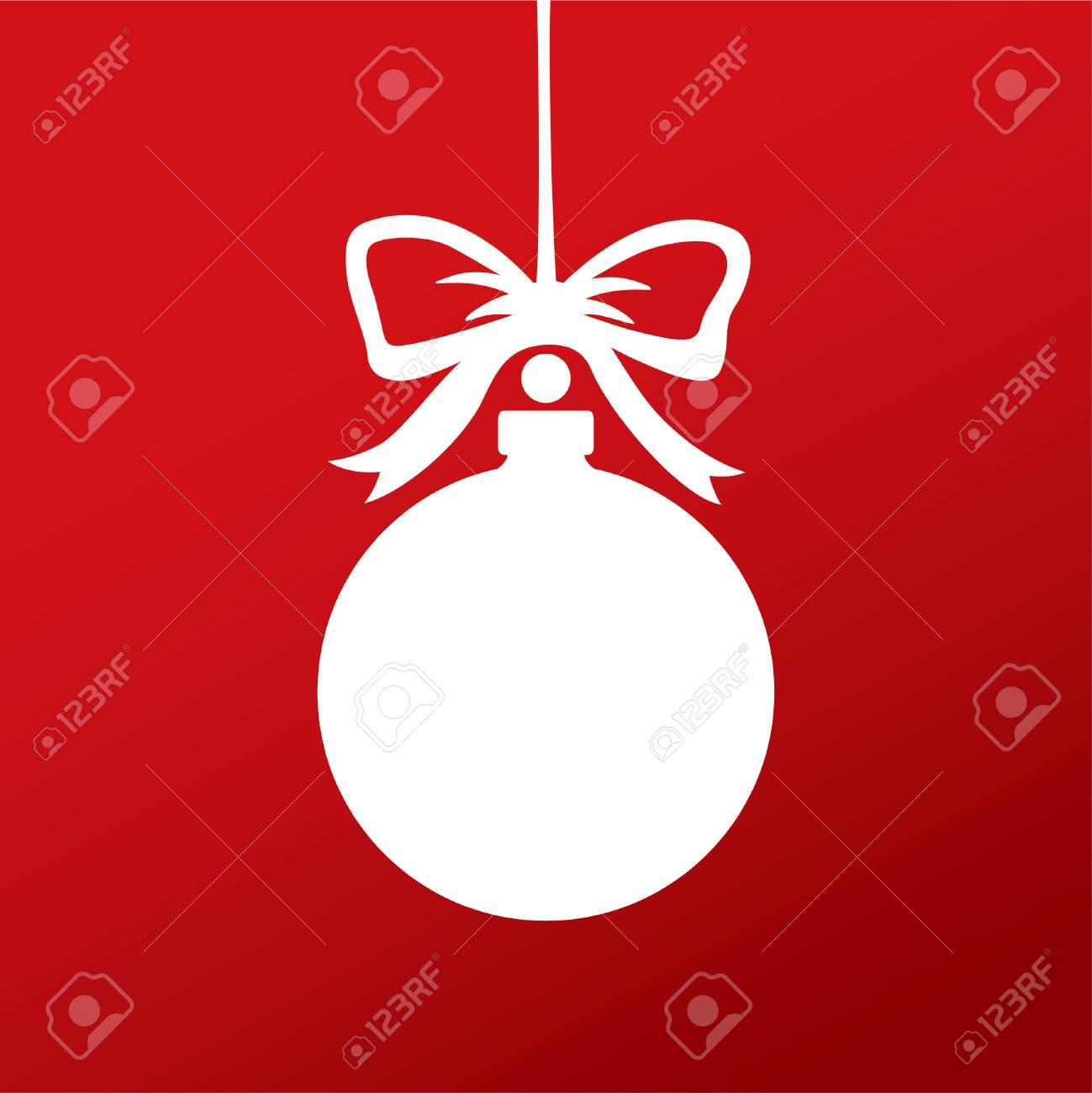 Bola Blanca Navidad. Vector Símbolo De Plantilla Ilustraciones ...