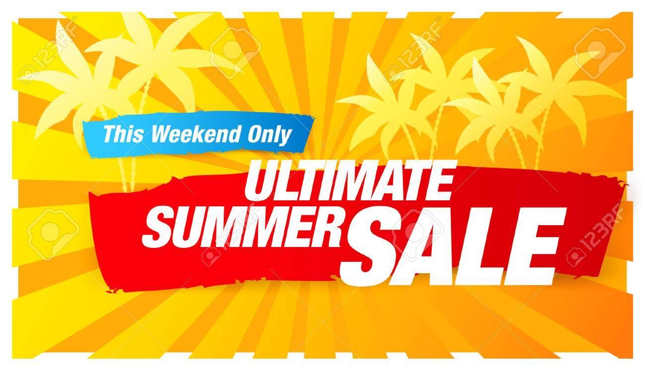 Ultimate summer sale banner - 58141615