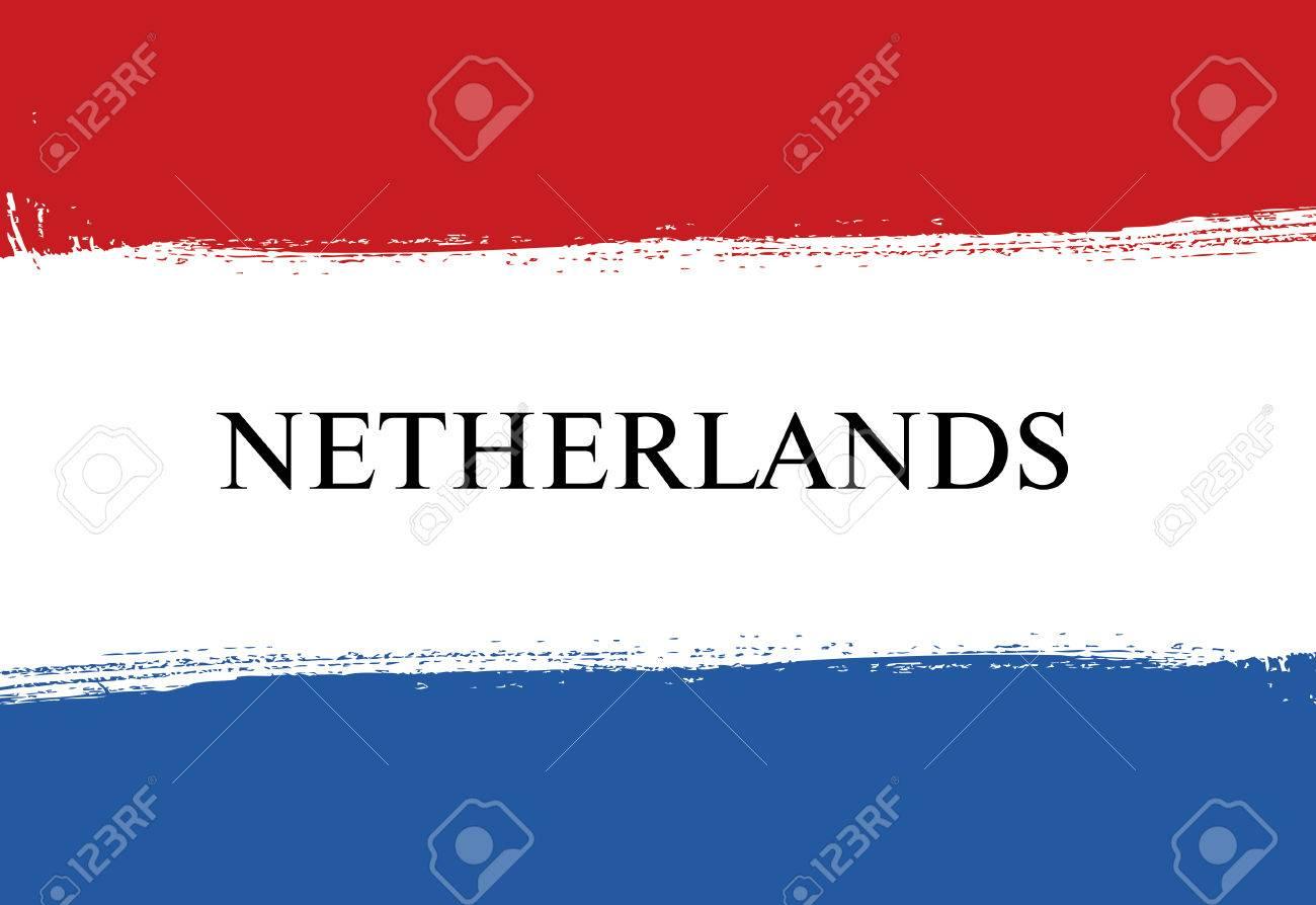 flag of netherlands dutch flag brush stroke background royalty