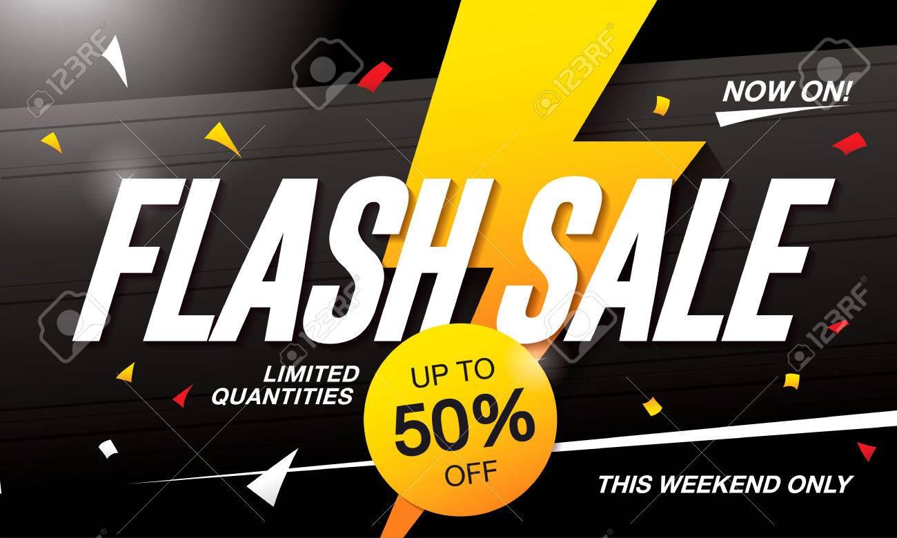 Flash sale banner template design - 63017398