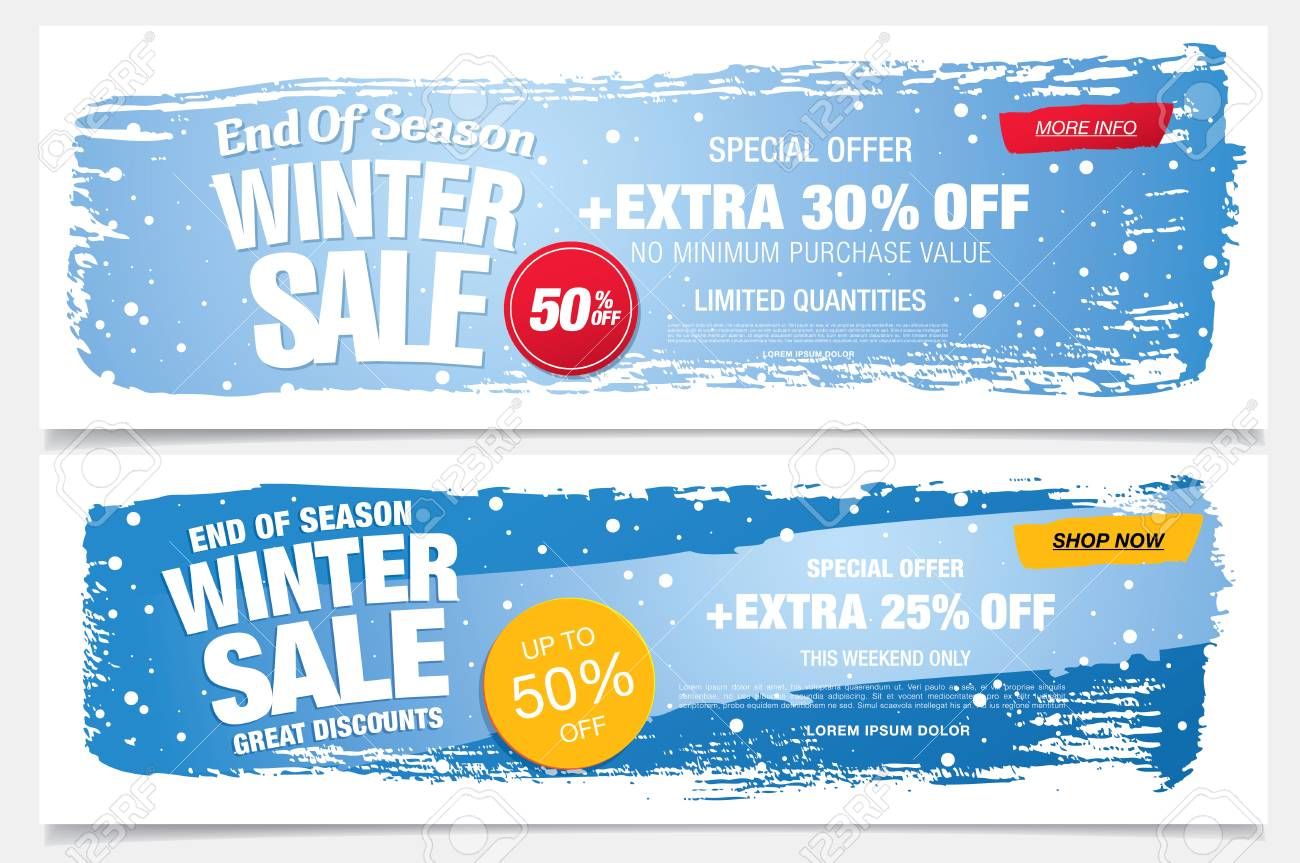 Winter Sale Banners Book Promotion Banners